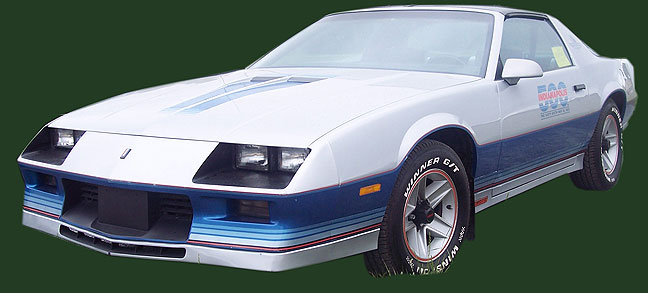 "This picture, culled from the internet, shows a 1982 Camaro similar to ""Skip's"" Camaro. It was a fun car, but only a shadow of the former great American muscle cars of the 60's and 70's."