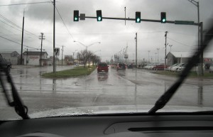 Gloomy skies and the rhythm of rain on my windshield escorted me to work this morning.