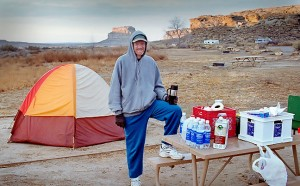 After an 11-year hiatus from camping, I decided to return to it in 2001. This image is from Chaco Canyon's Gallo Campground in November 2001.