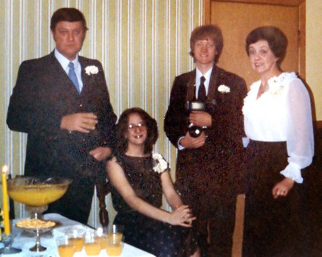 The Barron family, 1980.