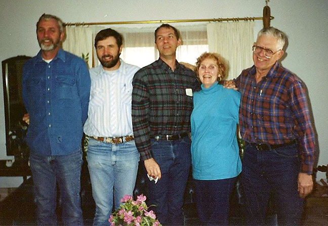 This is the Milligan family sometime in the 1980s: Tim, Ralph, Paul, Dorothy and George. My wife was married to Paul until his death in 1992.