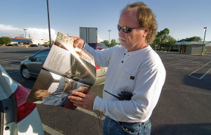 Photographer Jim Beckel checks out Ada Magazine in the spring of 2011. Not only is Jim a good friend, I rank him among the best photojournalists I have ever met.