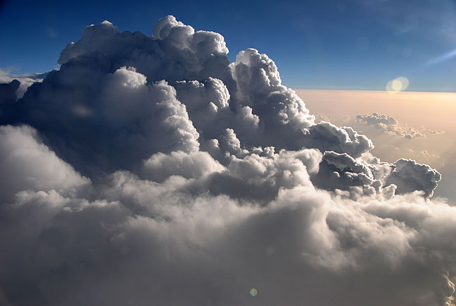 The towering cumulus cloud is the most dangerous, and the most beautiful, cloud to a pilot.