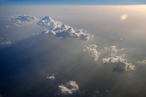Clouds look entirely different from above.