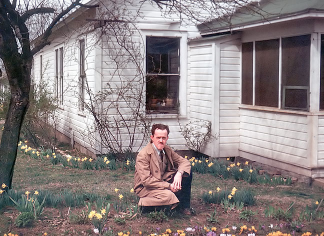My grandfather Richard Batten, after whom I was named, and from whom I seem to have inherited my photographic talents, poses with some early-spring flowers at one of his homes is Flat River, Missouri in about 1957.