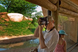 Michael makes images at the Oklahoma City Zoo some years ago.