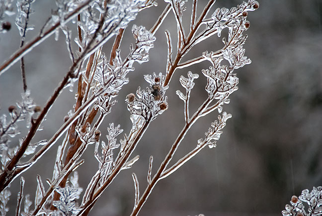 The third ice storm of the season struck just hours before the official start of winter.