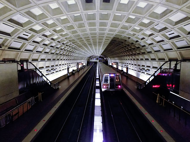 The Metro subway system in Washington, DC.