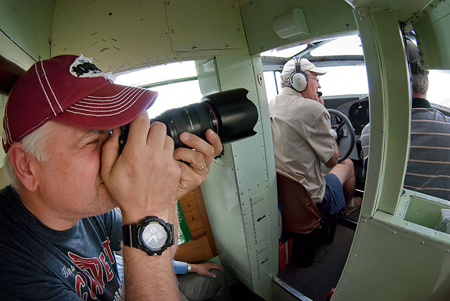 Explore Ada videographer Will Boggs makes footage of our pilots.