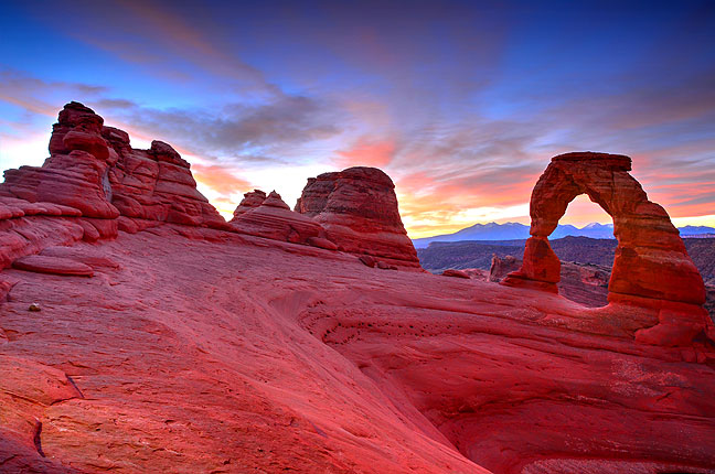 This was my first time to photograph Delicate Arch, where Abby and I got married, at sunrise.