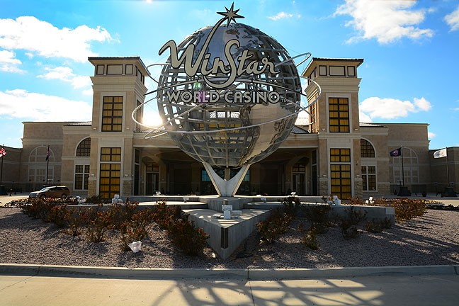 This is the main entrance to Winstar World Casino.