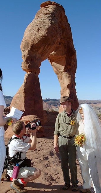 Abby and I got married at Arches National Park in October 2004.