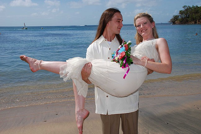 Ian and Jamie tied the knot in the Caribbean in 2006.