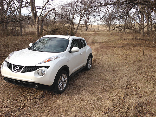 This is my Nissan Juke parked near a creek bed where I made images of yesterday's wildfire.