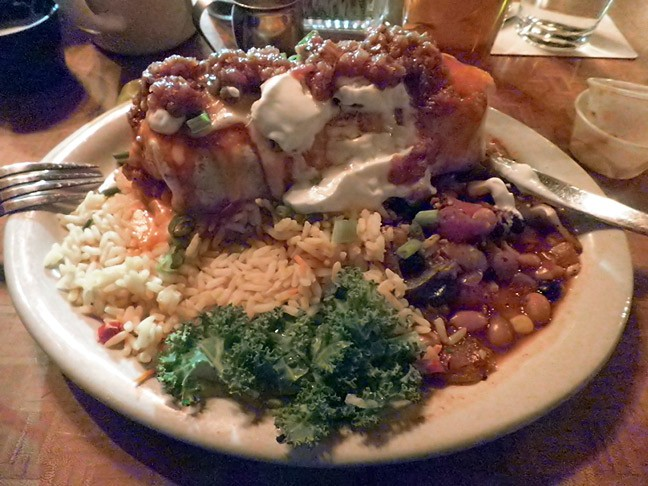 This is a mountain of vegetarian amazement.