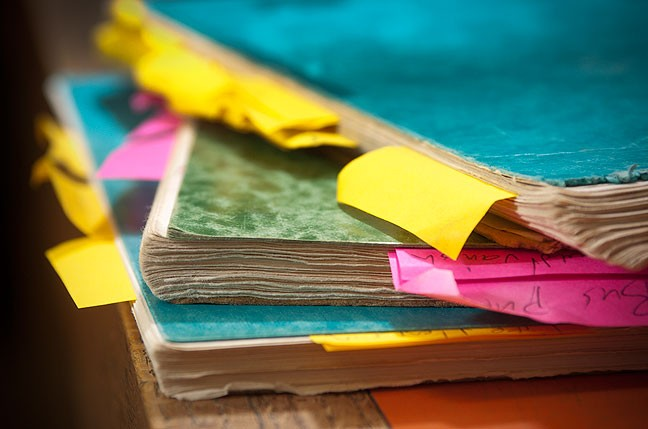 Recently I've been putting Post-It notes on all the passages in my journal I perceived as significant. The result is that I have journals full of Post-It notes.