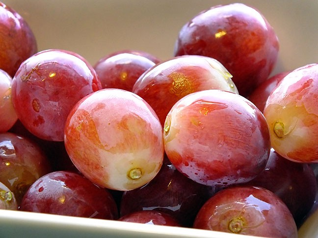 I found these grapes at Wal Mart Saturday, and thought they looked good for lunch yesterday. I was unaware at the time that grapes figured prominently in the plot of one of the movies we watched.