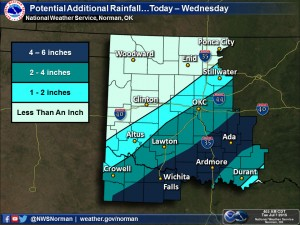 We could get another six inches of rain.