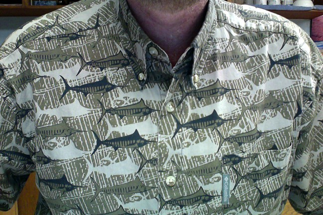 One thing I did to celebrate my birthday was to wear this swordfish shirt my parents gave me 20 years ago. Festive, no?