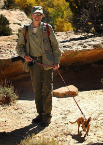 Max the Chihuahua and I walk around at Butler Wash in southern Utah in 2006. There is nothing either of us would rather do.