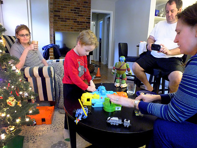 Abby, Paul, Tom and Chele share Christmas morning. It was our first opportunity to spend the holidays in Baltimore.