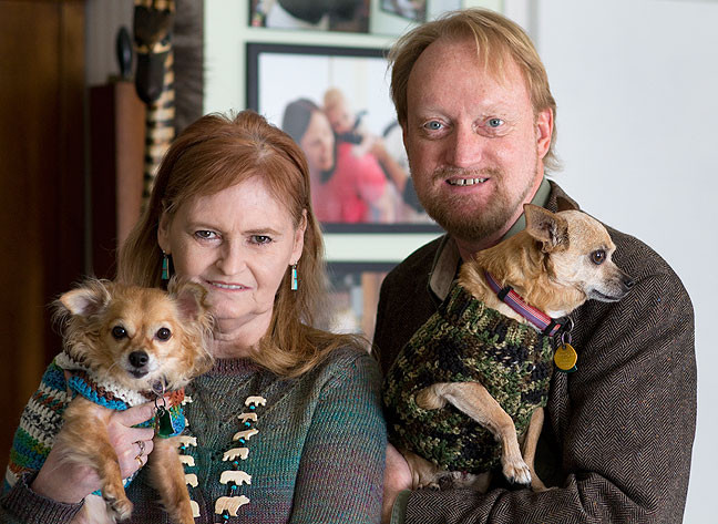 Robert made this image of Abby and me together with our dogs, Sierra and Max, with my new AF-S Nikkor 85mm f/1.8 lens.