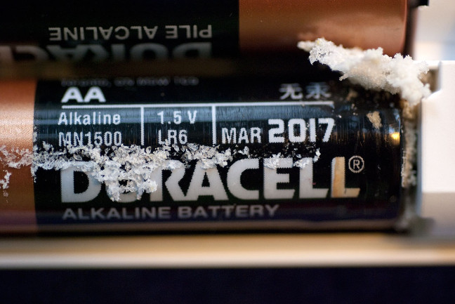 This is but one of a series of Duracell battery corrosion events in our lives.