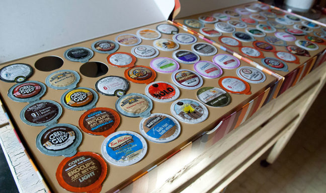 You might note that two K-Cup®s are already missing from the box; I couldn't wait even long enough to photograph them to try some.