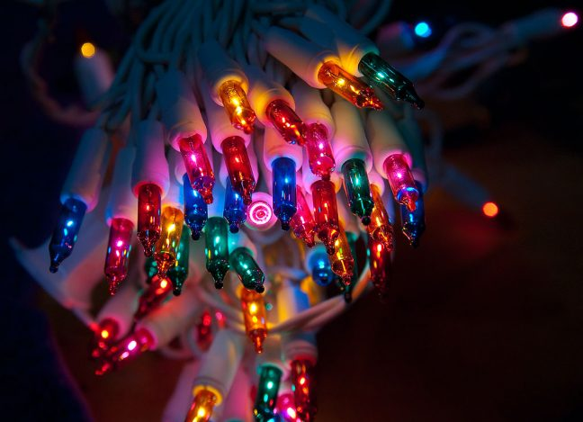 One of my chores last night was testing all of our Christmas lights.
