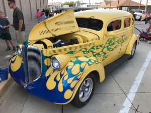 While I covered Friday night's Cruisin' Main in Ada, I had a terrific time texting images like this one to Abby, who is very much a car person.