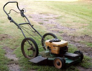 I've cut a lot of grass with this mower, since the first summer Abby and I were dating. It seems to give up once in a while, only to come back to life with some care.