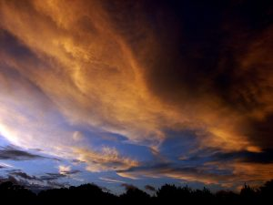 This was the stormy evening sky produced by Hurricane Gustav eight years ago.