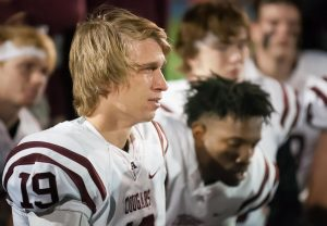 "Senior punter Tovan Thomsen can't hold back his tears at the end of Ada's 14-0 loss to Heritage Hall Friday night. I covered Thomsen's sisters, Aneli and Menee when they played basketball at Ada High, and I covered their father, Todd, when we both attended Oklahoma University, including the infamous ""Ice Bowl"" at Oklahoma State in 1985."