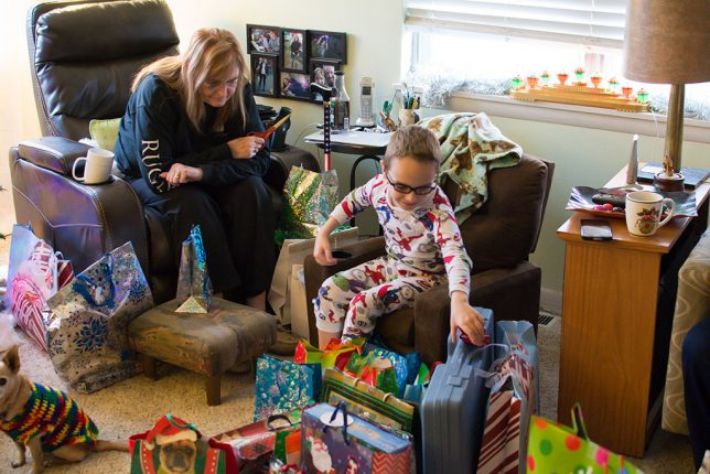 "Since the kids flew in on December 25, the 26th was ""Christmas morning."""