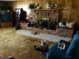 Over the years we had a lot of good times with my wife's extended family in this living room, which I probably won't ever see again.