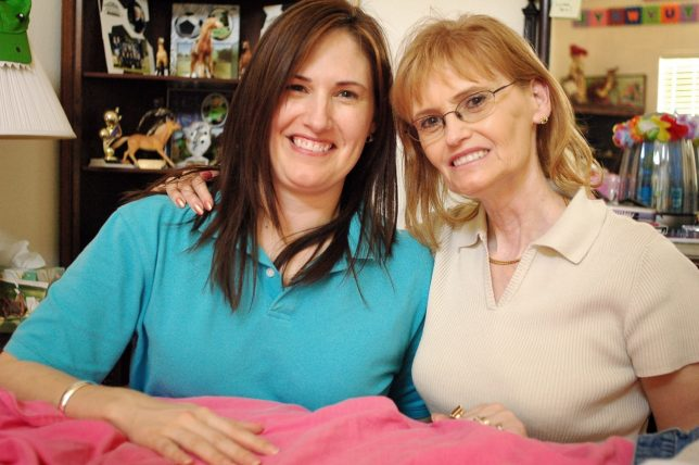 """Abby and her daughter Dawna """"Chele"""" Milligan pose together in 2006 in Dallas."""
