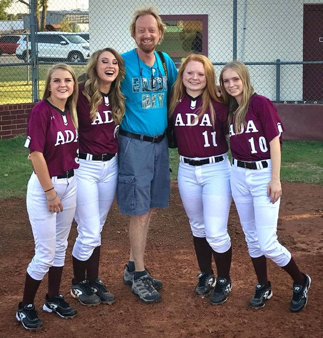 My last assignment before leaving for this short staycation was photographing Ada softball media day, a chance, as usual, to photobomb some of them. It was very fun.