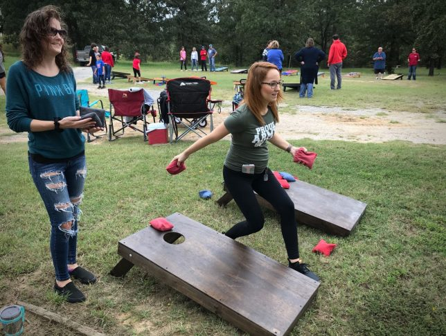 Our sports editor and I participated in another cornhole tournament this week, at the Ada Elks Lodge. We didn't play well, but we had fun.