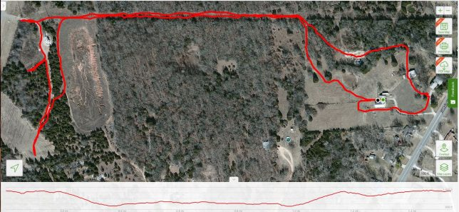 I fired up my All Trails app for a recent walk with Hawken the Irish Wolfhound, with only one surprise: 95 feet of elevation change. It's a great route, one I hope to take him on it many times this winter.