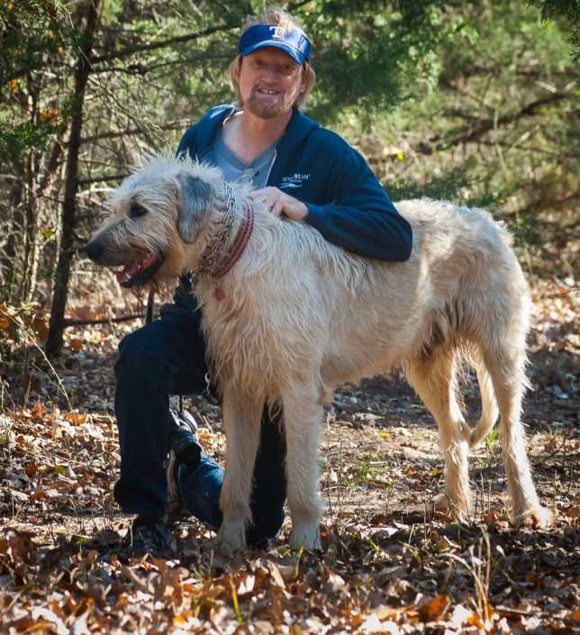 After our photo session, Robert and I took Hawken the Irish Wolfhound for a long walk in the woods.