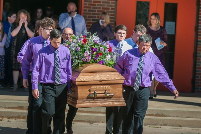 I don't cover a lot of funerals, but when called upon to do so, I rise to it.