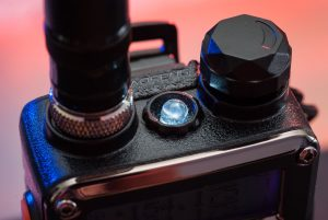 The LED on top of the Baofeng between the antenna port and the volume knob is a flashlight.