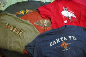 It's no secret that Abby and I love New Mexico, and our shirt collection shows it.