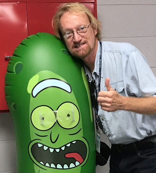 """This is me with a pickle, but not """"the"""" pickle."""