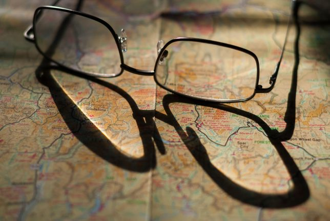 My reading glasses sit on a map of Colorado in the morning sun. Two things of note... 1. I recently switched to 2.0x readers, partially due to trying to read Kurt Cobain's child-like handwriting, and 2. Abby and I hope to visit Colorado again very soon.