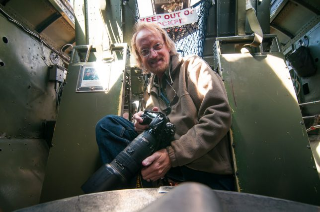 "Your host photographed himself inside the Boeing B-17 ""Nine-O-Nine"" during the Wings of Freedom Tour March 20 at Ada Regional Airport. The aircraft was destroyed Wednesday when it crashed in Connecticut."
