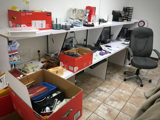 My new office is just a space right now, but soon I will make it my own, and home to the photography department of The Ada News.