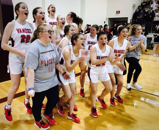 The Vanoss Lady Wolves won the Class 2A area championship last week, and had a great shot at a state championship. I feel for them that they probably won't get the chance to play for it.