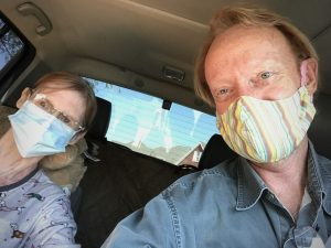 Abby had a brief doctor visit last week. We pulled into the parking lot wearing our Rona masks, and the nurse came out and gave her an injection.