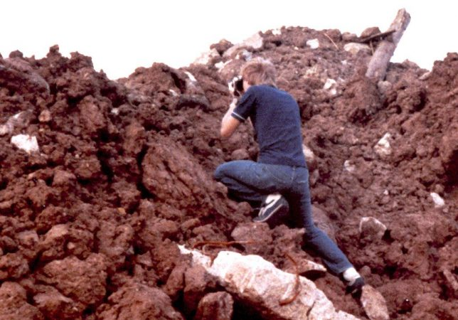 This is me making pictures of rocks in a lot behind our house in 1978, using my then-new Fujica ST-605N film camera.